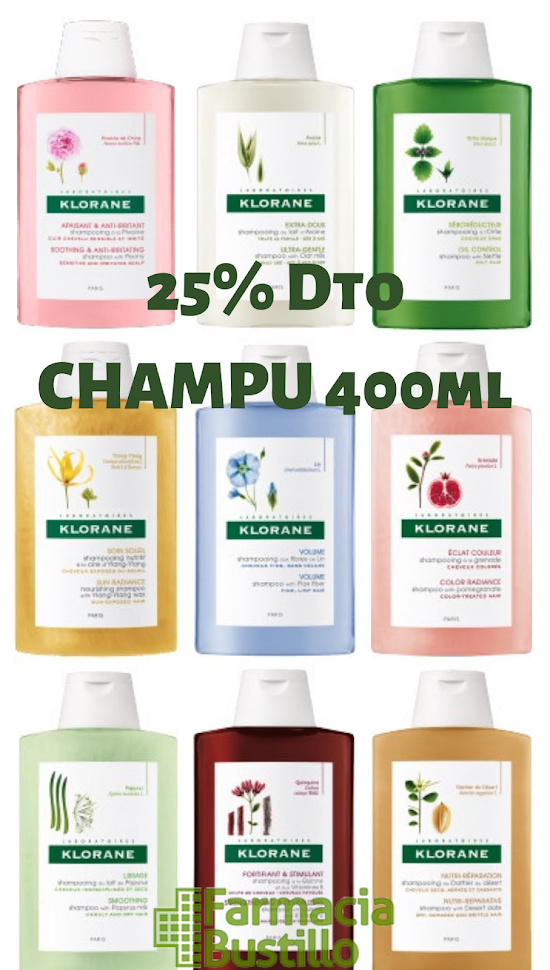 Klorane Champú 400ml 25% Dto
