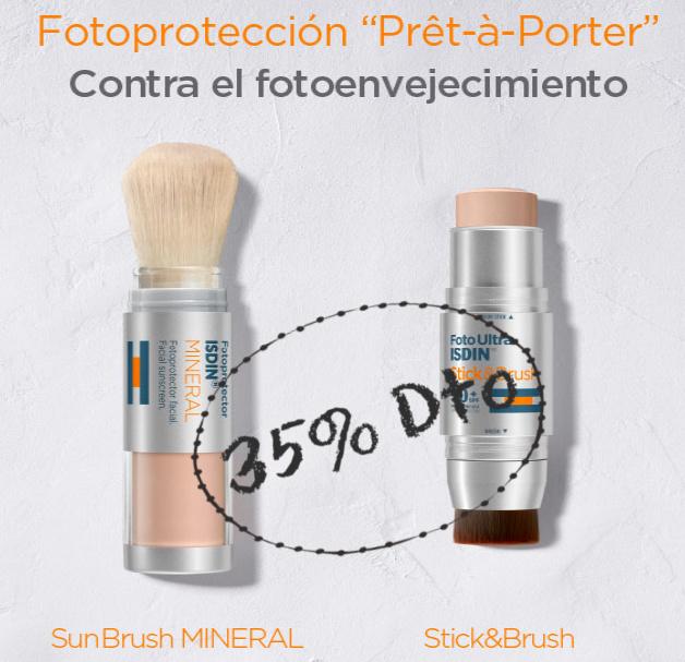 Fotoprotector Isdin 35% Brocha y Stick