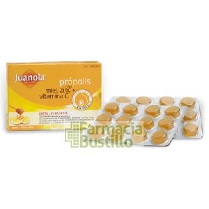 JUANOLA Pastillas Blandas de Própolis con Miel, Zinc y Vitamina C  24u