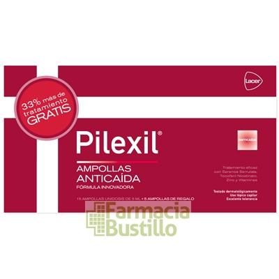 PILEXIL LOCIÓN Anticaída  5ml 15 AMPOLLAS + REGALO 5 Ampollas