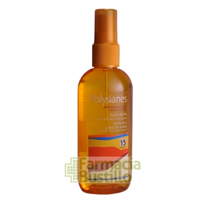 POLYSIANES Aceite Seco Protección media SPF 15 Spray 125ml