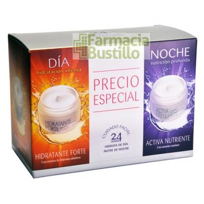 Lotalia Hidratante Forte Día 50ml + Activa Nutritiva Noche 50ml