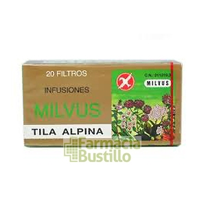 Tila Alpina Milvus con Pétalos de Azahar 20 filtros