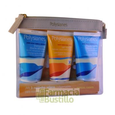 Polysianes Leche SPF30  50ml + GelCalmante 50ml + Champú 50ml