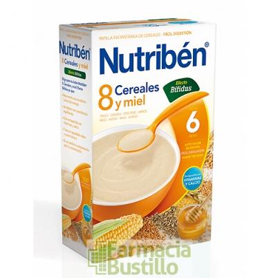 NUTRIBEN 8 Cereales y Miel efecto Bifidus +6 meses 600g