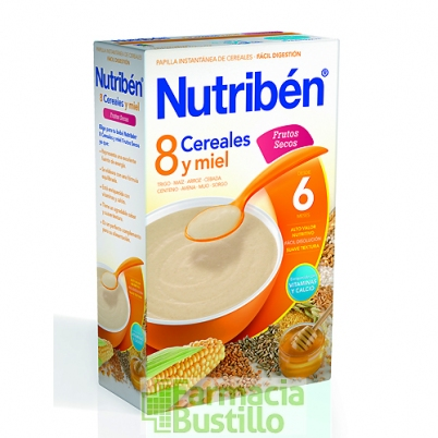 NUTRIBEN 8 Cereales y Miel Frutos Secos +6 meses 600g