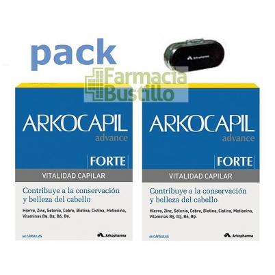 Arkocapil Advance Forte, 2x60 Cáps DUPLO 50% Desc 2º Envase + Regalo Pastillero