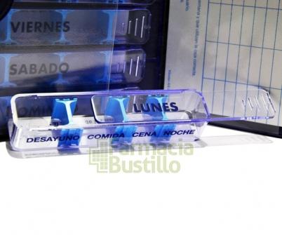 Pastillero Semanal Organizador de medicamentos Azul