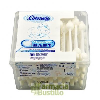 Bastoncillos de algodón Protector Baby 56 Unid