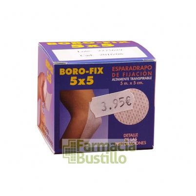 BORO-FIX Esparadrapo de Fijación 5m x 5cm