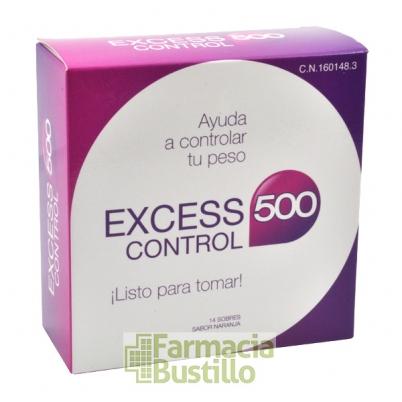 Excess 500 Control 14 Sobres Liquido Sabor Naranja
