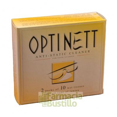Toallitas Limpiagafas Optinett 20 Unidades