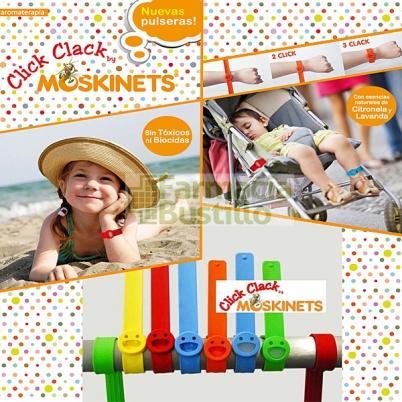 Moskinets Click Clack Pulsera antimosquitos