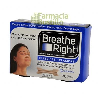 Breathe Right Tiras Nasales Clasicas Grandes 30 Unid CN 300319