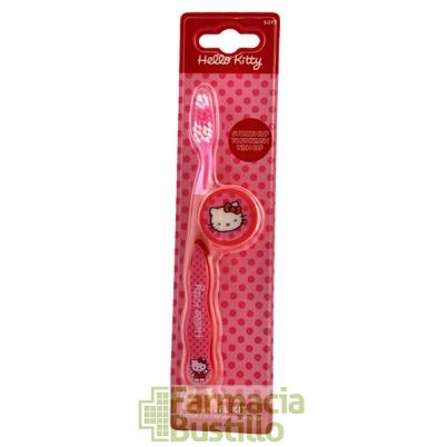 Cepillo de Dientes Hello Kitty con Tapa +3años