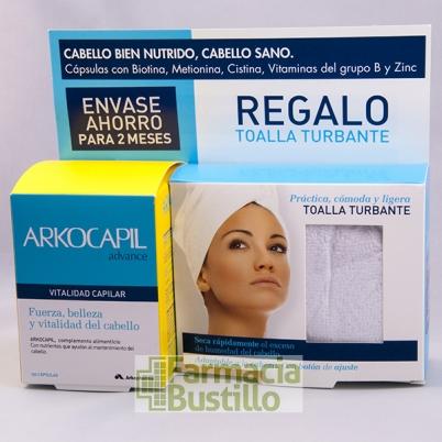 Arkocapil Advance 120 Cáps Vitalidad Capilar + Regalo Toalla Turbante  CN 369108