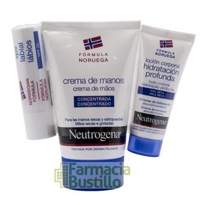 NEUTROGENA Pack Crema Manos Fórmula Noruega + Protector Labial SPF20+ Loción 15ml