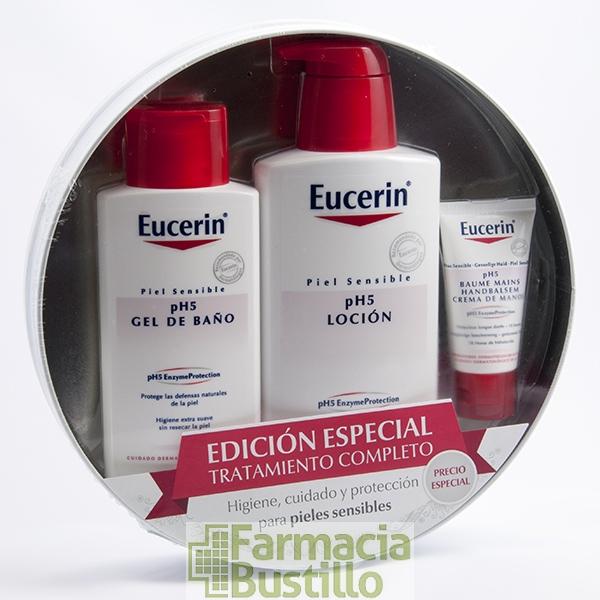 Eucerin lata gel de ba o ph5 200ml loci n ph5 400ml regalo crema manos 30ml - Eucerin gel de bano ...