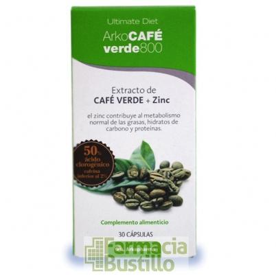 Arko Café Verde 800 30 cápsulas Extracto de café verde y zinc. CN 170988