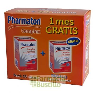 Pharmaton Pack Complex 60 Cápsulas blandas + 30 Cápsulas REGALO
