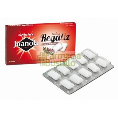 JUANOLA  Chicles Sabor Regaliz con Xilitol sin Azucar
