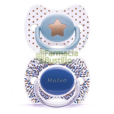 SUAVINEX Chupete Icons Premium PERSONALIZADO  Haute Couture +4m 2Unid