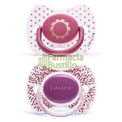 SUAVINEX Chupete Icons Premium PERSONALIZADO  Haute Couture +12m 2Unid