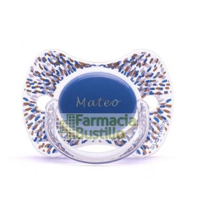 SUAVINEX Chupete Icons Premium PERSONALIZADO  Haute Couture + Broche Pinza Haute +4m