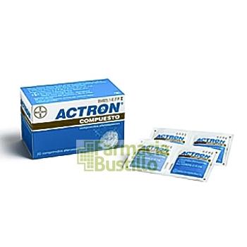 ACTRON COMPUESTO 267 mg/133 mg/40 mg Comprimidos Efervescentes 20 comprimidos