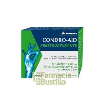 Condro Aid Reestructurante ,Colágeno, Ácido Hialurónico, Vitamina C y D 14 Sobres