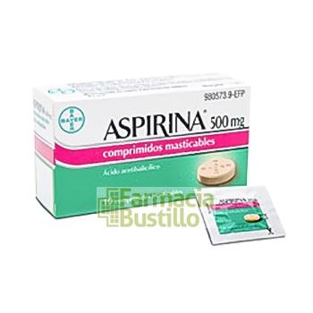 ASPIRINA 500 mg 10 Comprimidos Masticable CN 980573