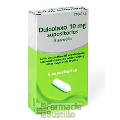 DULCOLAXO con bisacodilo 10mg 6 Supositorios CN 748491