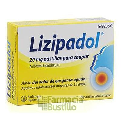 LIZIPADOL 20mg 18 pastillas para chupar CN 689206