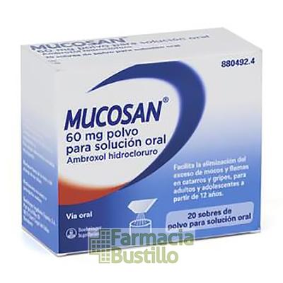 MUCOSAN 60mg polvo para solución oral 20 sobres  CN 880492