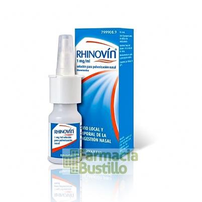 RHINOVÍN 1 mg/ml pulverizador nasal 10ml CN 799908