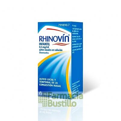 RHINOVÍN INFANTIL 0,5 mg/ml gotas Nasales en solución, 10ml CN 799890