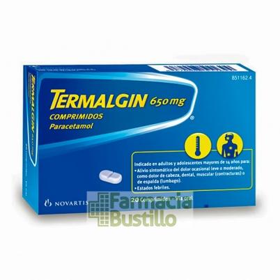 TERMALGIN 650mg 20 comprimidos