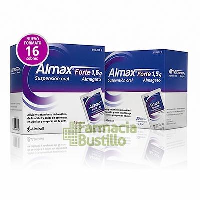 ALMAX FORTE 1,5 g Suspensión Oral 16 sobres