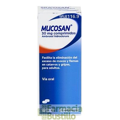 MUCOSAN 30mg 20 Comprimidos  CN 958116