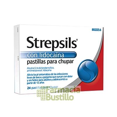 STREPSILS con LIDOCAINA pastillas para chupar 24 pastillas
