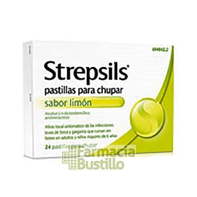 STREPSILS pastillas para chupar SABOR LIMON sin AZUCAR  24 pastillas