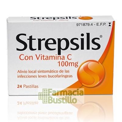 STREPSILS con vitamina C pastillas para chupar  24 pastillas