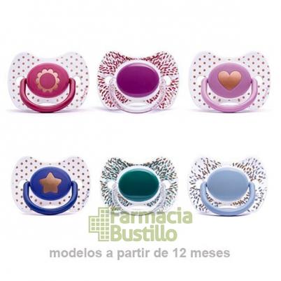 SUAVINEX Chupete Premium Haute Couture Fisiológico Silicona +12m