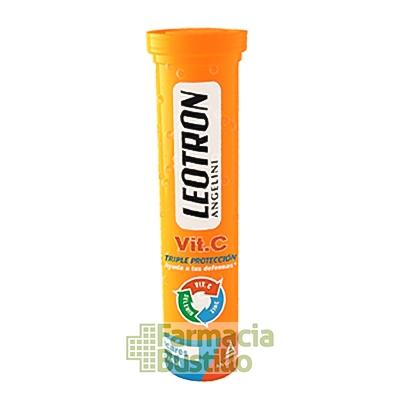 LEOTRON Vitamina C para tus Defensas, Zinc y Selenio 18 comprimidos eferv CN