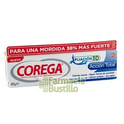 COREGA Sin Sabor Extra Fuerte FIJACIÓN 3D Adhesivo Prótesis 40g