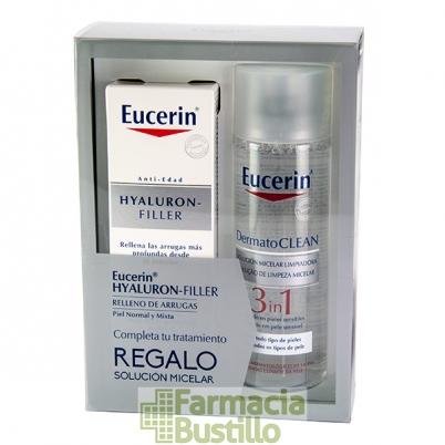 EUCERIN Hyaluron Filler Antiedad Día Piel Normal/Mixta 50ml + REGALO Solución Miscelar 3 en 1 200ml