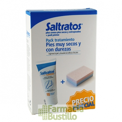 SALTRATOS PLUS Crema Regenerante Intensiva  100 ml  + REGALO Piedra Pómez