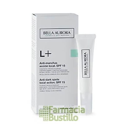 Bella Aurora L+ Manchas Localizadas pieles sensibles SPF 20