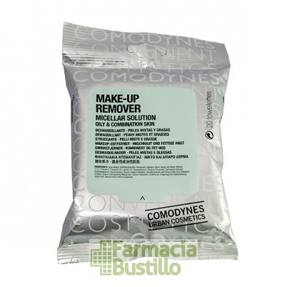 COMODYNES Toallitas desmaquillantes Pieles Mixtas y Grasas Make-up Remover