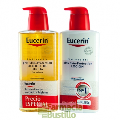 EUCERIN Pack OleoGel de Ducha Ph5 400ml + Loción Ph5 400ml